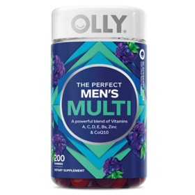 OLLY Men's Multivitamin Gummy, Blackberry Flavor (200 ct.)