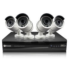 Swann 8 Channel 3MP HD IP NVR Security System with 4 3MP Cameras, 2TB Hard Drive, and 100' Night Vision