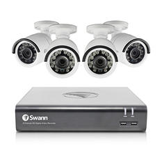 Swann 8-Channel 1080p DVR Surveillance System with 1TB Hard Drive, 4x 1080p Bullet Cameras with 100' Night Vision