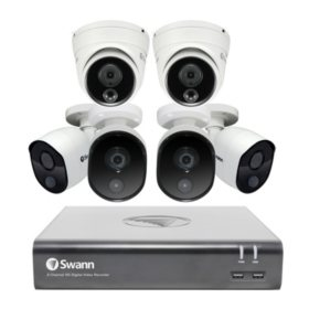 Swann 8-Channel 1080p DVR Surveillance System with 1TB Hard Drive, 6-Camera 1080p Indoor/Outdoor Cameras