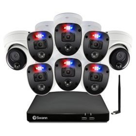 Swann  Enforcer™ 8 Channel 1080p DVR CCTV, 8-Camera Wired Smart Security Surveillance System, Full Color Night Vision