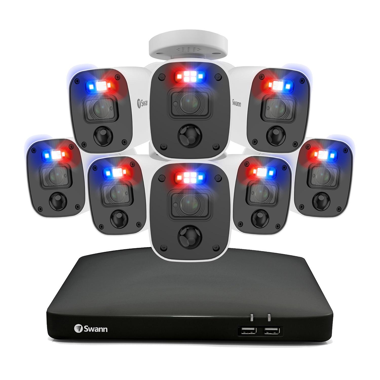Swann Enforcer 8 Channel 4K DVR CCTV, 8-Camera Wired Smart Security Surveillance System
