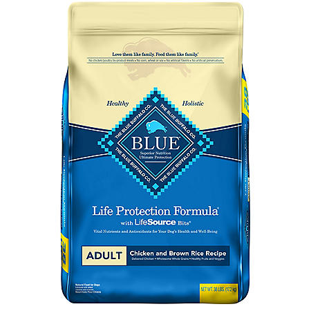 Blue Buffalo Life Protection Formula Natural Adult Dry Dog Food, Chicken & Brown Rice (38 lbs.)