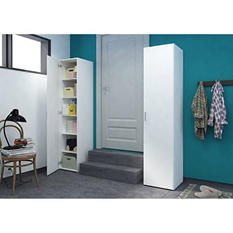 D-Scan Single Door White Storage Cabinet