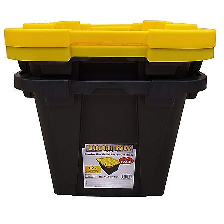 Tough Box 12-Gallon 2-Pack Storage Totes