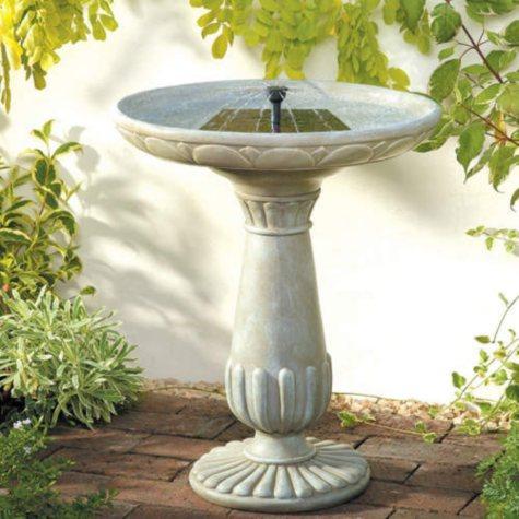 Portsmouth Solar Birdbath Fountain