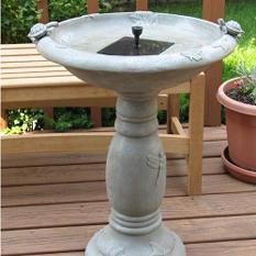 """Solar Fountain/ Birdbath - 29"""""""