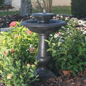 Chatsworth 2-Tier Solar on Demand Fountain