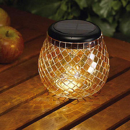 Amber Solar Mosaic Glass Light by Smart Solar