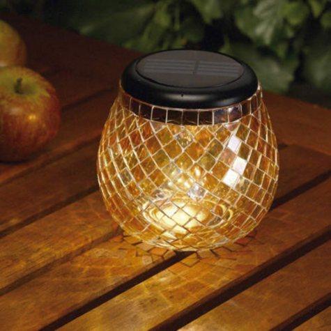 Amber Solar Mosaic Glass Light by Smart Solar