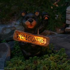 Welcome Bear Solar Accent Light