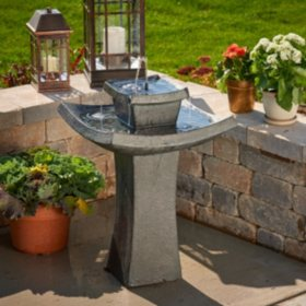 Mahayana 2-Tier Solar-On-Demand Fountain