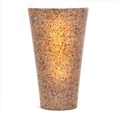 Indoor/Outdoor Granite Style Battery Operated LED Wall Sconce