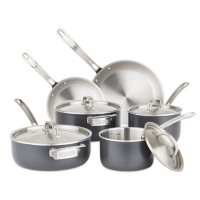 Deals on Viking 5-Ply 10-Piece Hard-Anodized Stainless-Steel Cookware Set