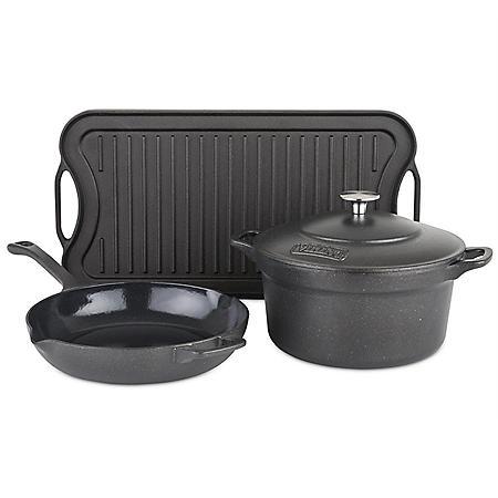 Viking 4-Piece Cast Iron Cookware Set