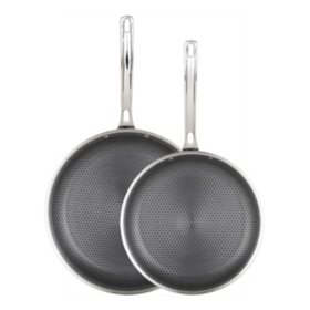 "Viking HybridPlus 3-Ply Stainless Steel 2-Piece Nonstick Fry Pan Set, 9.5"" and 11"""