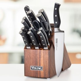 Viking 15 Piece Knife Set With Wood Block Sams Club