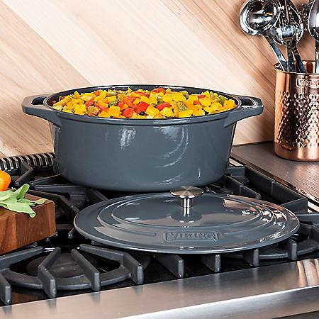 Viking 7-Quart Enamel Coated Cast Iron Dutch Oven/Roaster (Assorted Colors)