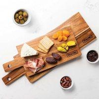 Viking Acacia Wood 2-Piece Paddle and Cutting Board Serving Set