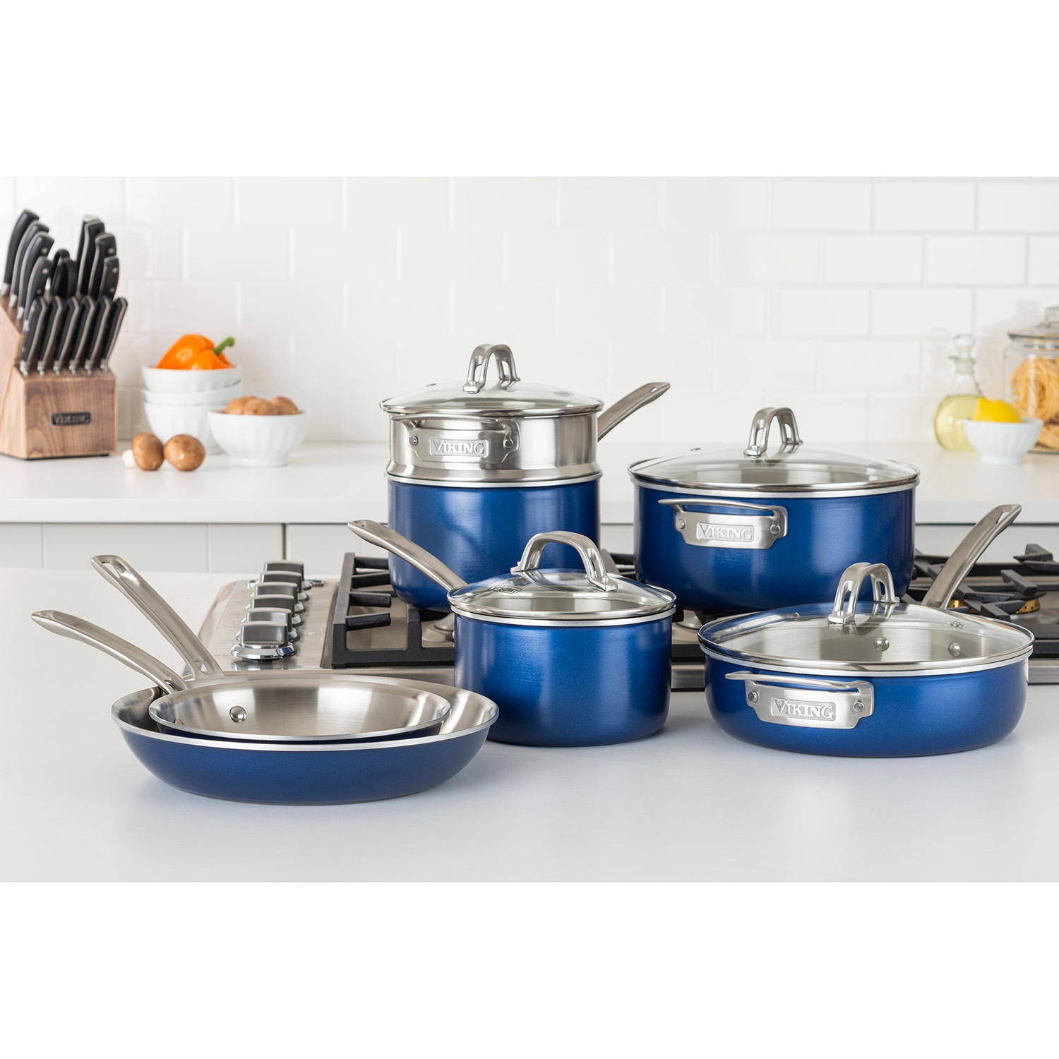 Viking 2-Ply Aluminum and Stainless Steel 11-Piece Cookware Set