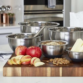 Viking 10-Piece Stainless Steel Mixing, Prep and Serving Bowl Set
