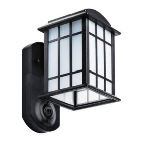 Maximus Craftsman Smart Home Security Outdoor Light & Camera - Textured Black