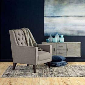 Cole & Rye Gray Button-Tufted Accent Chair