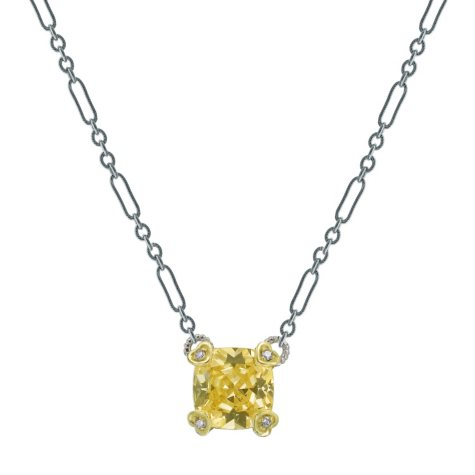 Judith Ripka Canary Crystal & Diamond Necklace