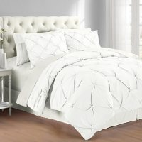 Swift Home Pintuck Comforter and Sham Set (Assorted Sizes and Colors)