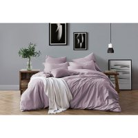 Swift Home Pre-Washed Cotton Chambray Duvet Cover and Sham Bedding Set (Assorted Sizes and Colors)