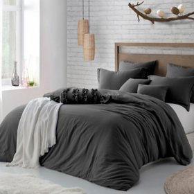 Swift Home Lush Ultra Soft Washed Crinkle Duvet Cover Set (Assorted Sizes and Colors)