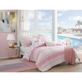 Caribbean Joe Tropical Pineapple 4-Piece Reversible Comforter Set (Assorted Sizes)
