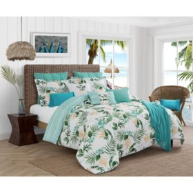 Caribbean Joe Tropical Nassau 4-Piece Reversible Comforter Set (Assorted Sizes)
