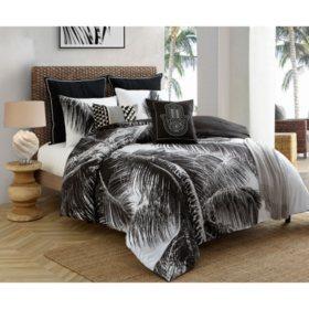 Caribbean Joe Tropical Palm 4-Piece Reversible Comforter Set (Assorted Sizes)