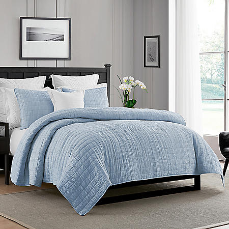 Swift Home Crinkle Enzyme Wash Quilted Coverlet/Bedspread (Assorted Sizes and Colors)