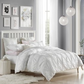 Swift Home Ultra Glam Ruched Rosette Duvet Cover Set (Assorted Sizes and Colors)