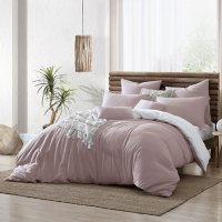 Swift Home Valatie 100% Cotton Garment Washed & Dyed Reversible Duvet Cover Set (Assorted Sizes and Colors)
