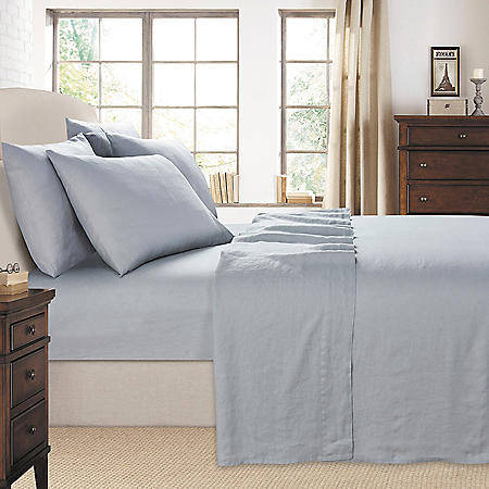 Luxurious Laurel Park 100% Linen 6-Piece Sheet Set (Assorted Colors & Sizes)