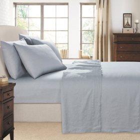 Luxurious Laurel Park 100% Linen 6-Piece Sheet Set (Assorted Colors & Sizes)