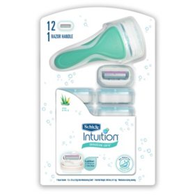 Schick Intuition Sensitive Care Razor Handle + 12 Cartridges