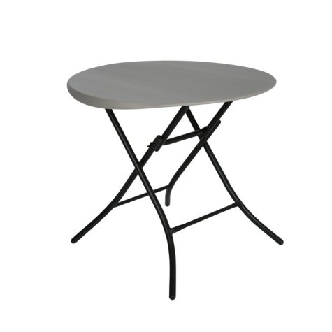 "Lifetime 33"" Round Folding Table, Putty"