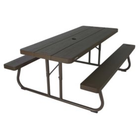 Lifetime 6' Picnic Table - Brown