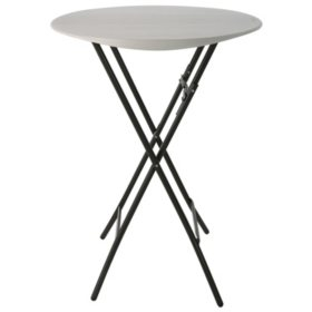 "Lifetime 33"" Round Bistro Table, Almond"