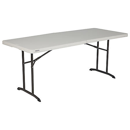 Lifetime 6' Fold-In-Half Commercial Grade Table, Almond