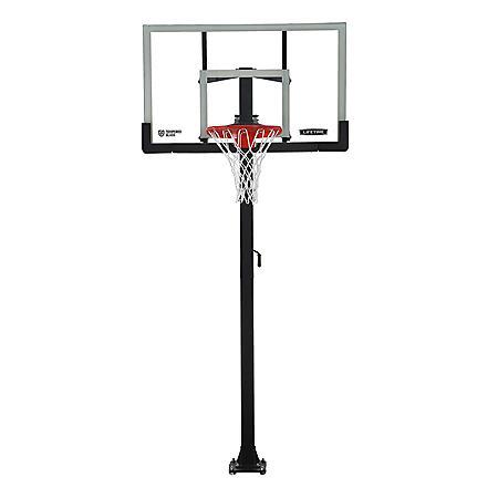 "Lifetime Adjustable In-Ground Basketball Hoop (54"" Tempered Glass), 90568"
