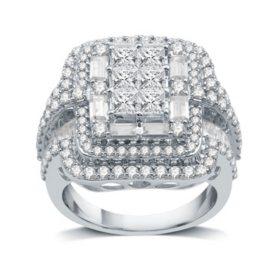 3.0 CT. T.W. Diamond Ring in 14K White Gold (I-I1)