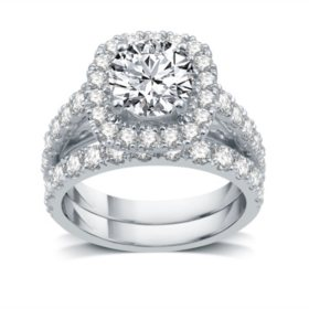 3.5 CT. T.W. Diamond Bridal Set in 14K White Gold (I-I1)