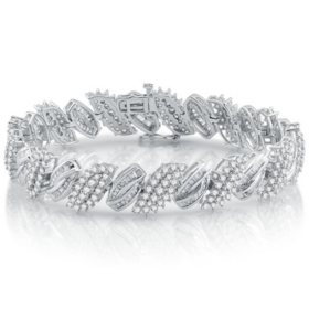 7.00 CT. T.W. Diamond Bracelet in 14K White Gold
