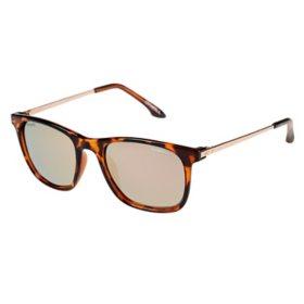 O'Neill Bells Polarized Sunglasses, Gloss Tort Frames w/ Gold & Pink Mirror Lenses
