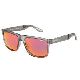 O'Neill Magna Polarized Sunglasses, Matte Gray Frames w/ Red Mirror Lens